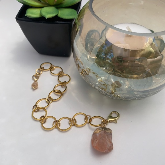 Jewelry - Gold plated chain link charm bracelets